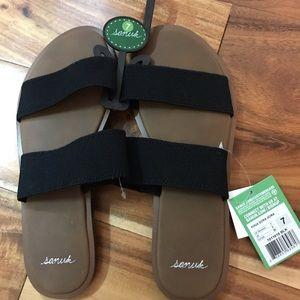 Sanuk Yoga Gora Gora Sandals - Black - Size 7